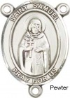 St. Samuel Rosary Centerpiece Sterling Silver or Pewter