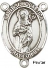 St. Scholastica Rosary Centerpiece Sterling Silver or Pewter