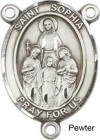 St. Sophia Rosary Centerpiece Sterling Silver or Pewter