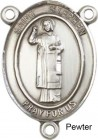 St. Stephen the Martyr Rosary Centerpiece Sterling Silver or Pewter
