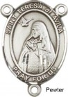St. Teresa of Avila Rosary Centerpiece Sterling Silver or Pewter