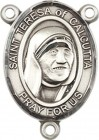 St. Teresa of Calcutta Rosary Centerpiece Sterling Silver or Pewter