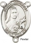 St. Therese of Lisieux Rosary Centerpiece Sterling Silver or Pewter