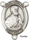 St. Thomas the Apostle Rosary Centerpiece Sterling Silver or Pewter