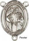 St. Ursula Rosary Centerpiece Sterling Silver or Pewter