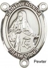 St. Veronica Rosary Centerpiece Sterling Silver or Pewter