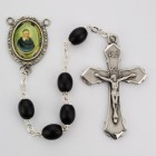 St. Vincent De Paul Black Wood Rosary