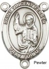 St. Vincent Ferrer Rosary Centerpiece Sterling Silver or Pewter