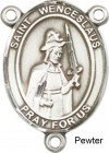 St. Wenceslaus Rosary Centerpiece Sterling Silver or Pewter