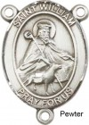 St. William of Rochester Rosary Centerpiece Sterling Silver or Pewter