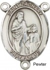St. Zachary Rosary Centerpiece Sterling Silver or Pewter