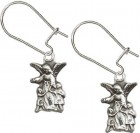 Sterling Silver Guardian Angel Dangle Earrings [BC0148]