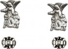 Sterling Silver Guardian Angel Post Earrings [BC0150]