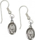 Sterling Silver Miraculous French Wire Earrings [BC0113]