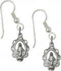 Sterling Silver Miraculous French Wire Earrings [BC0117]