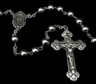 Sterling Silver Rosary 7mm