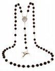 Men's Sterling Silver Scapular Rosary with Coco Beads