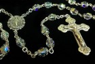 Swarovski Crystal Rosary in Sterling Silver with Baroque Crucifix
