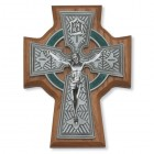 "Walnut Wood Celtic Crucifix - 5.5"" H"