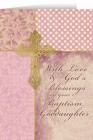 With Love and God's Blessings on your Baptism, Goddaughter Greeting Card