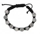 Women's Adjustable Black Corded St. Benedict Bracelet