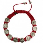 Women's Adjustable Red Corded St. Benedict Bracelet