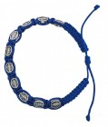 Women's Blue Colored Cord Bracelet with Miraculous Medals