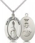 Women's Our Lady of Fatima Oval Necklace