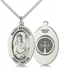 Women's St. Benedict of Monks Necklace