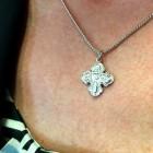 Youth or Women's Elegant Wide Tip 4 Way Cross Medal