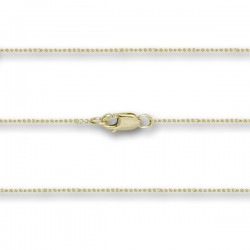 14 Karat Gold Thin Curb Chain with Clasp [BLCH0001]