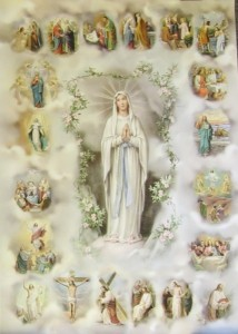 20 Mysteries of the Rosary Large Poster [HFA1017]