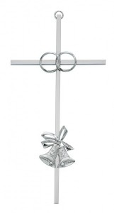 25th Anniversary Cross - 8 inch Metal [CR4061]