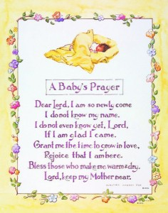 A Baby's Prayer Print - Sold in 3 per pack [HFA1204]