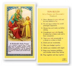 A Husband's Daily Laminated Prayer Cards 25 Pack [HPR730]