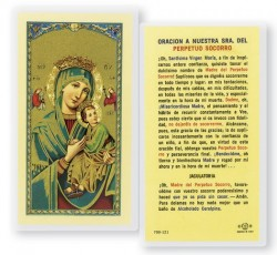 A Nuestra Senora Del Perpetuo Socorro Laminated Spanish Prayer Cards 25 Pack [HPRS287]