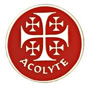Acolyte Jerusalem Cross Lapel Pin [TCG0186]