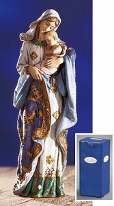 "Adoring Madonna and Child Statue - 7"" High [MIL1053]"