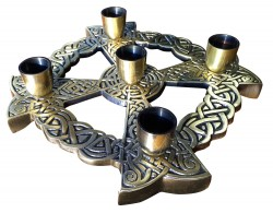 Advent Wreath Bronze Celtic Knot  [TCG0500]