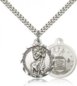 Air Force St. Christopher Medal - Nickel Size [CM2117]