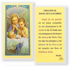 Angel De La Guarda Dos Angeles Laminated Spanish Prayer Cards 25 Pack [HPRS351]