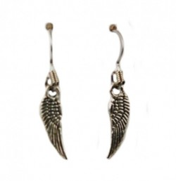 Angel Wing Fish Hook Earrings [MVER1020]