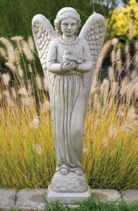 Angel of Peace with Dove Garden Statue 29 Inches [MSA0061]