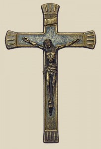 Antiqued Brass Crucifix 7 1/2 inches [CRX4043]