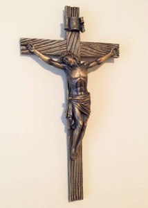 "Antiqued Gold Crucifix 20""H [RM0295]"