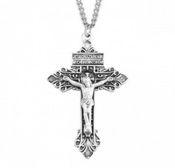 Antiqued Pardon Crucifix Necklace [HMM3313]