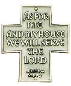 As For Me And My House Wall Cross - 3 inches [TCG0083]