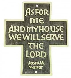 As For Me House We Shall Serve the Lord Wall Cross - 3.5 inches [TCG0085]
