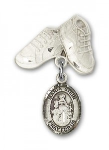 Baby Badge with Maria Stein Charm and Baby Boots Pin [BLBP1182]