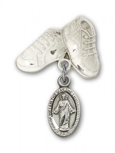 Baby Badge with Scapular Charm and Baby Boots Pin [BLBP0173]